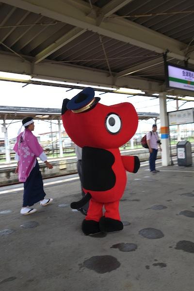 会津若松駅のホーム