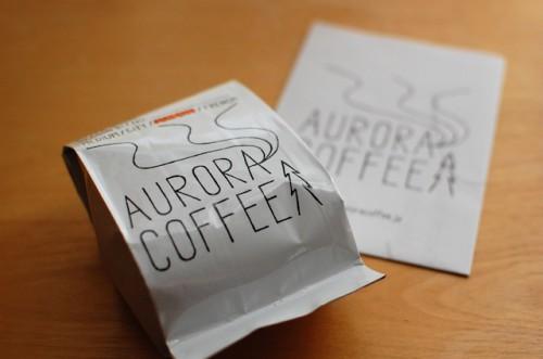 オーロラコーヒーのパッケージ