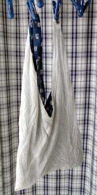 東袋(あづまぶくろ)を洗濯して干す