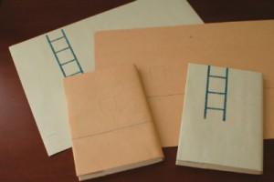 レトロ印刷で作ったブックカバー