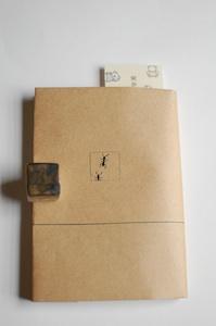 ポッポ紙のブックカバー(表面に印刷)