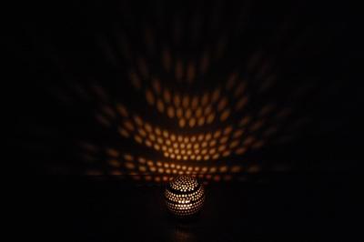 キャンドルの光