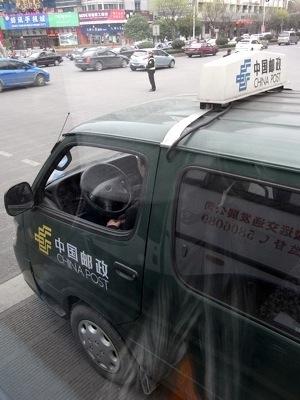中国の郵便車