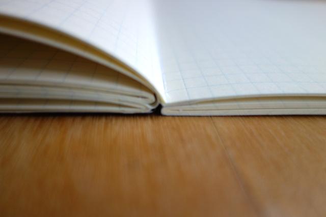 4つのブロックに分けて製本している120ページのツバメノート