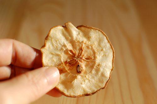 無肥料栽培の梨チップス