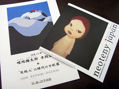 星と森の詩美術館のDMと新潟県立近代美術館のチラシ