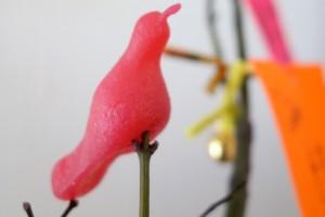 しんこ細工のハト飾り