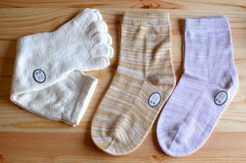 正活絹の靴下