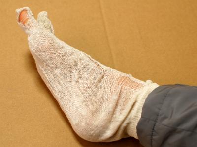 冷えとり靴下の穴