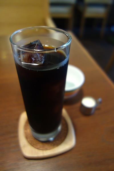 リボンカフェのアイスコーヒー