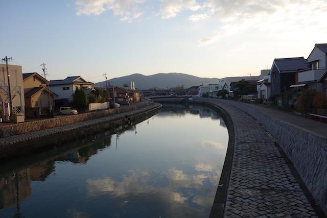 伊勢市河崎の夕景