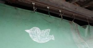 鳥が描かれたシート