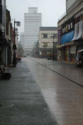 金澤表参道、土砂降り