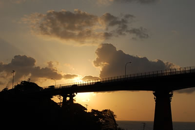 柏崎の海(夕日)