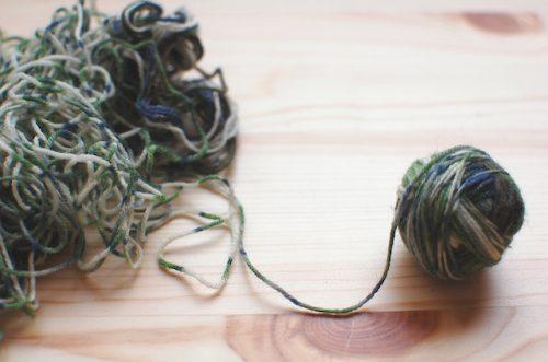 こんがらがった毛糸