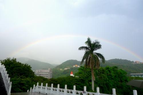 故宮博物院で見た虹