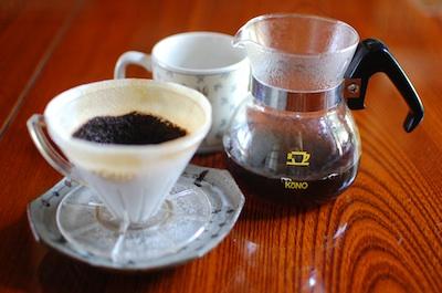 コーノ式ドリッパーセットでコーヒー