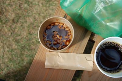 にいがた空艸舎で食べたお汁粉とコーヒー