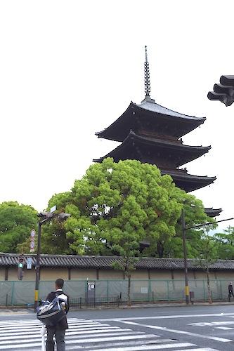 東寺の五重塔が見える