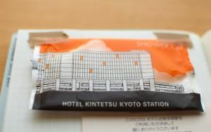 ホテル近鉄京都駅のアメニティの袋