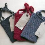 アフガン編みのミニバッグ