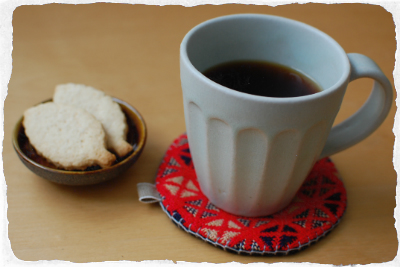村山大介さんのコーヒーカップと豆皿