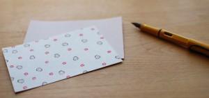 和紙のポストカードでお便り
