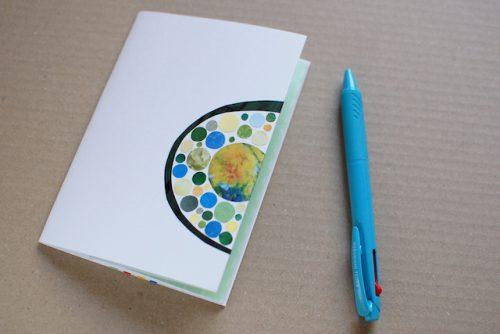 製本と切り貼りのワークショップ、出来上がりサンプル