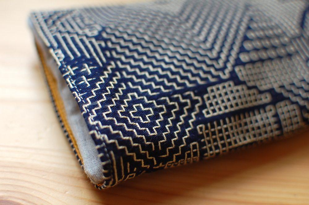 福田利之さんデザインの刺子織で作ったカバー