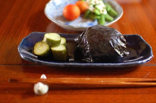 玄米おむすびのお昼ご飯