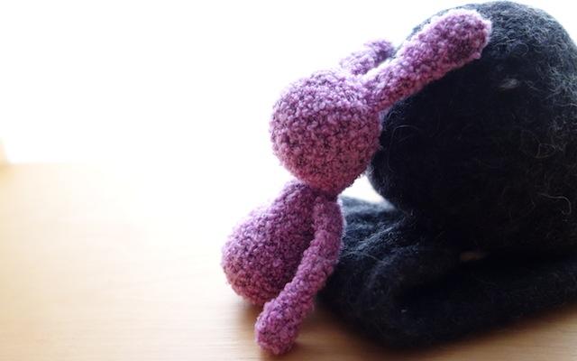 作りかけの編みぐるみ