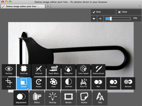 Pixlr Express サイズ変更(リサイズ)