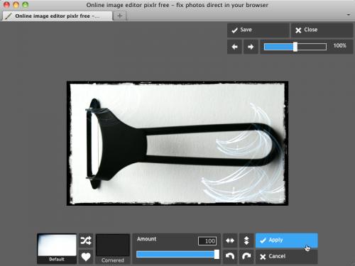 Pixlr Express ボーダー効果適用
