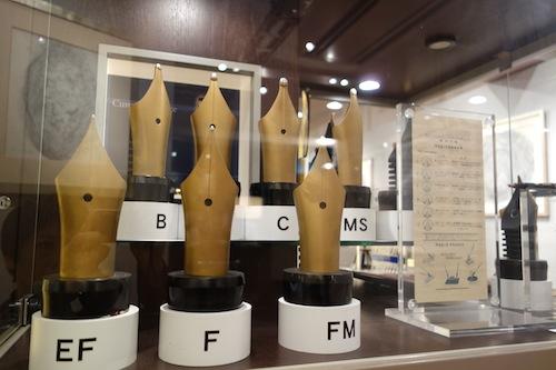 万年筆のペン先模型