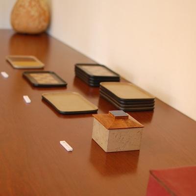 オステリア・サカヅメにある飯塚直人さんの漆の器