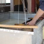 紙漉 サトウ工房を訪問、春の話