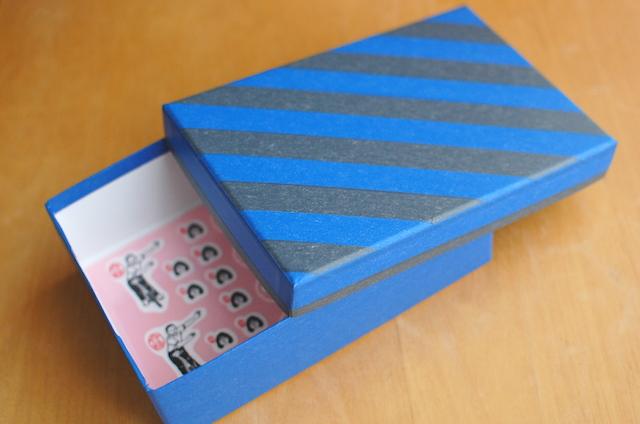 紙もの雑貨店 setiaのマスキングテープでデコレーションした箱