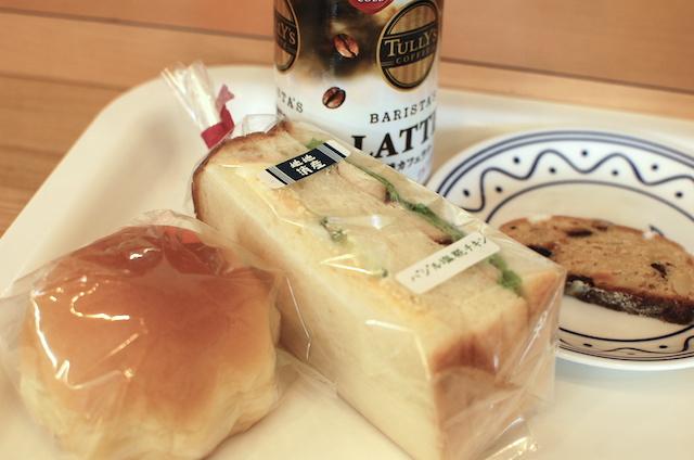 バジル塩麹チキンのサンドウィッチと菓子パンふわふわ、シュトレン