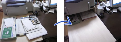 ストーリオのDIYサービスを利用して作った棚、設置前と設置後