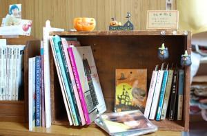 スミレ屋一箱古本市の本棚