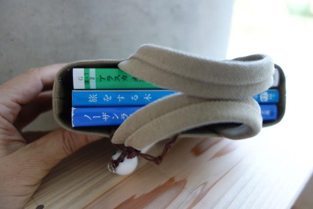 すずめ文庫:帆布バッグの中に星野道夫さんの文庫