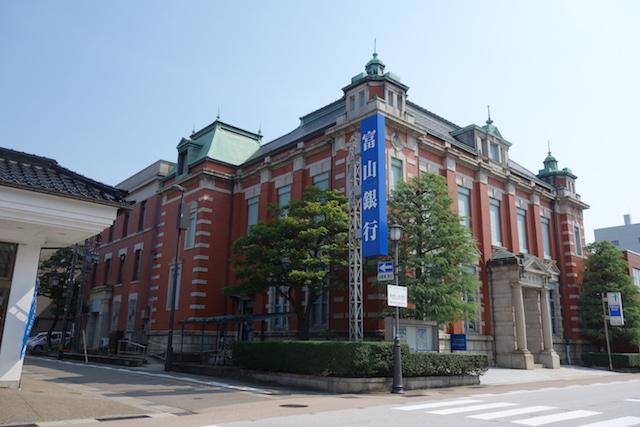 高岡、赤レンガの銀行