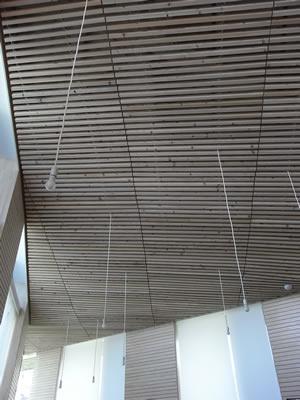 まちとしょテラソの天井