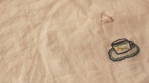 リボンカフェ手芸部 ゆうききよみさんの刺繍教室