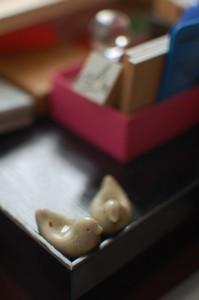 田谷直子さんの鳥箸置き
