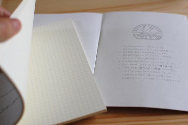 ツバメノート社製 正方形の大学ノート紙面