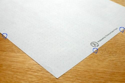 折りたたみ用目印の一部