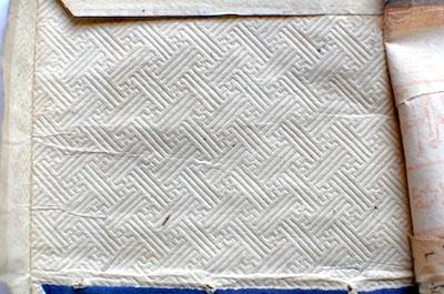 和綴じ本の表紙の裏