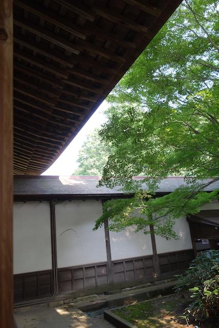 瑞龍寺 お抹茶の席からの眺め